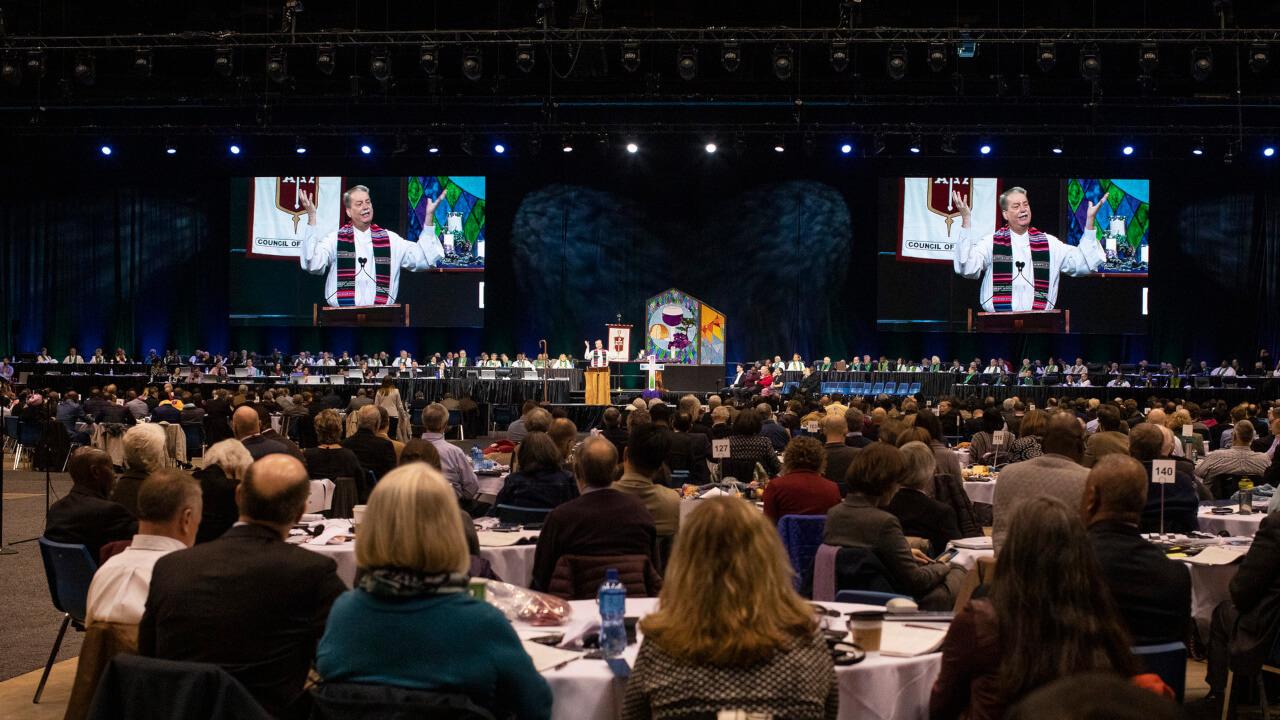 Delegierte der generalkonferenz an der Tagung 2019