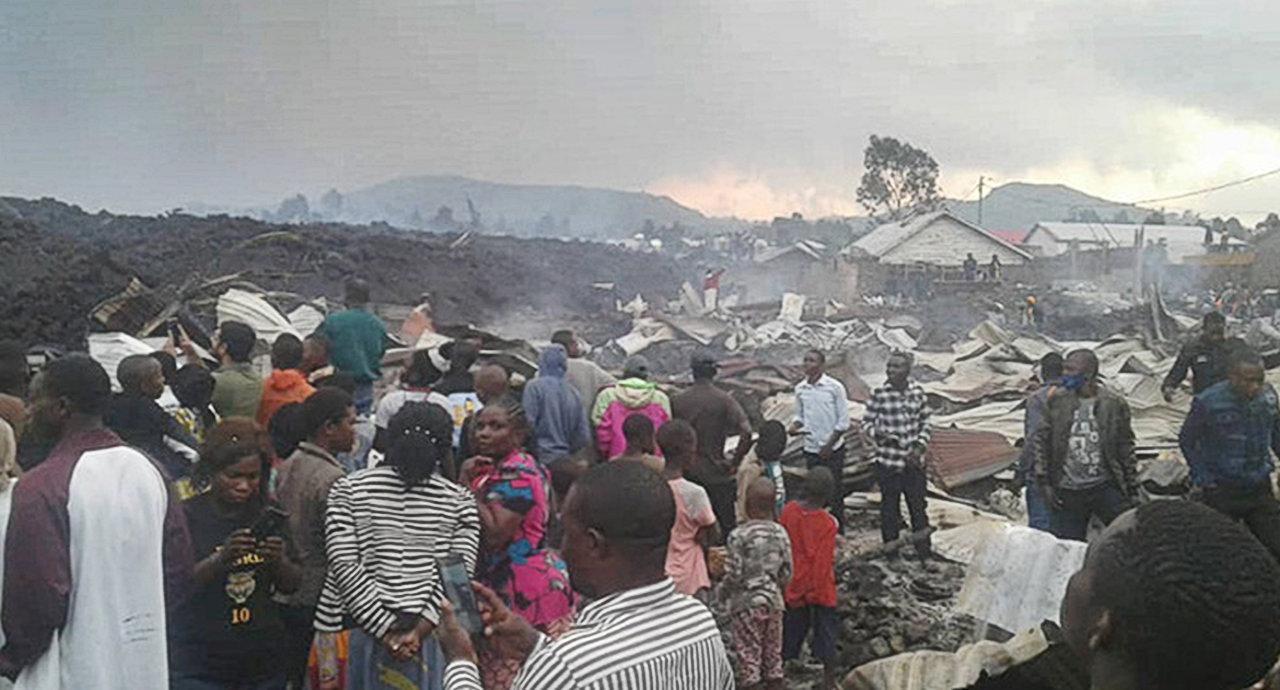 Bewohner des Stadtteils Buhene in Goma