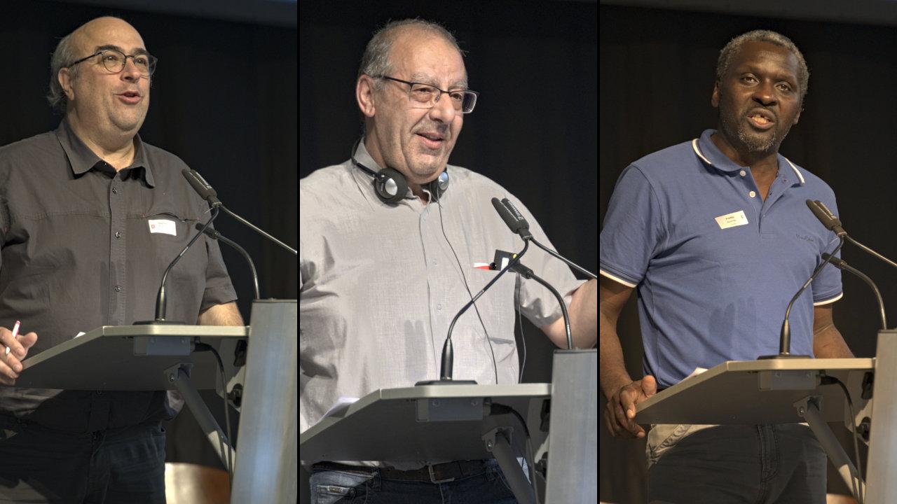 Etienne Rudolph, Grégoire Chahinian, Freddy Ntambe