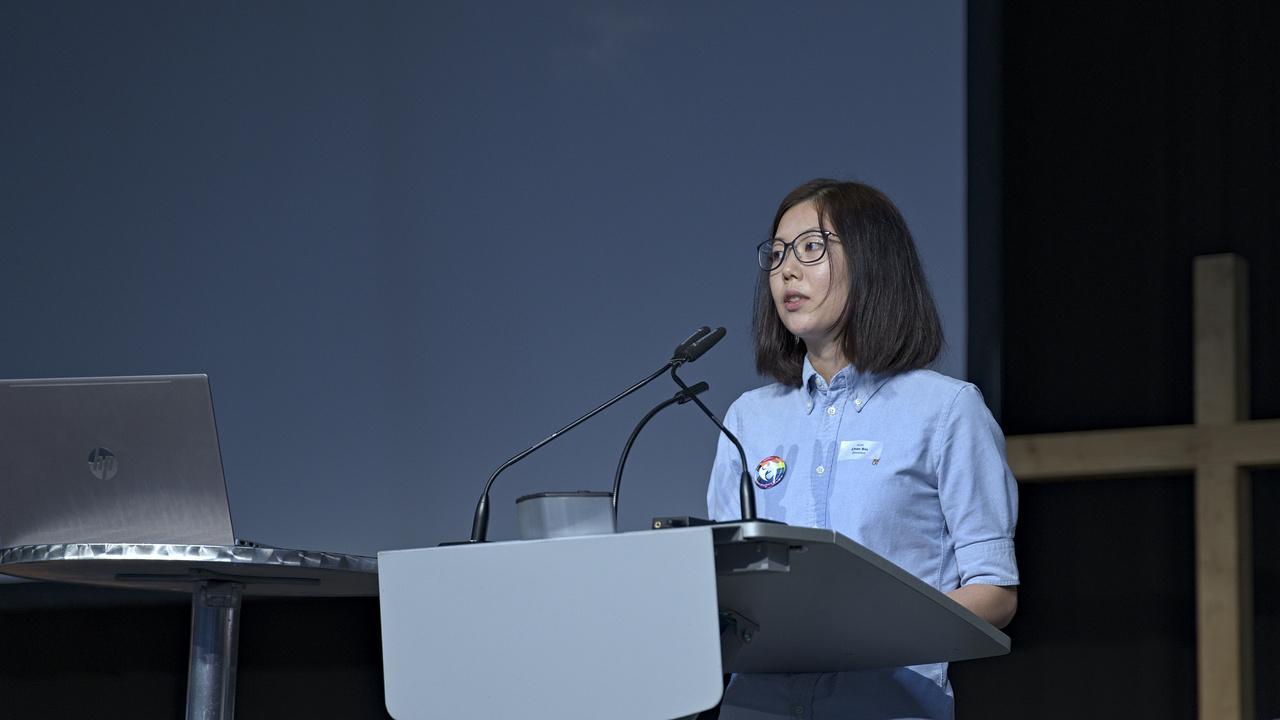 Pfarrerin Chae Bin Kim führte in den Bericht ein