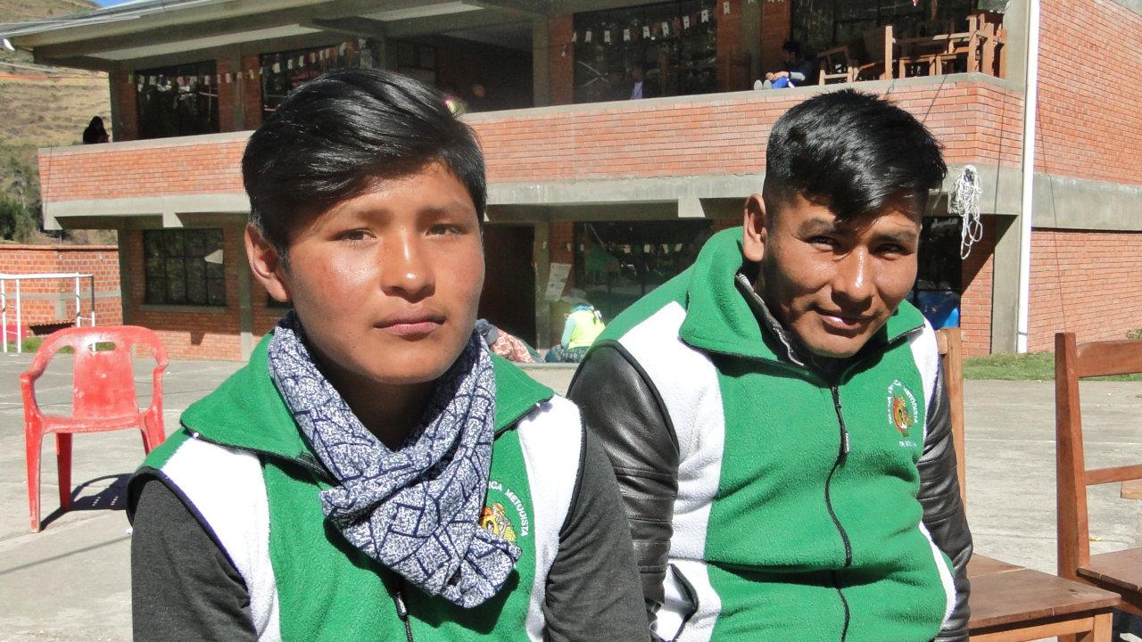 Guido und Luis nahmen am Jugendtreffen teil