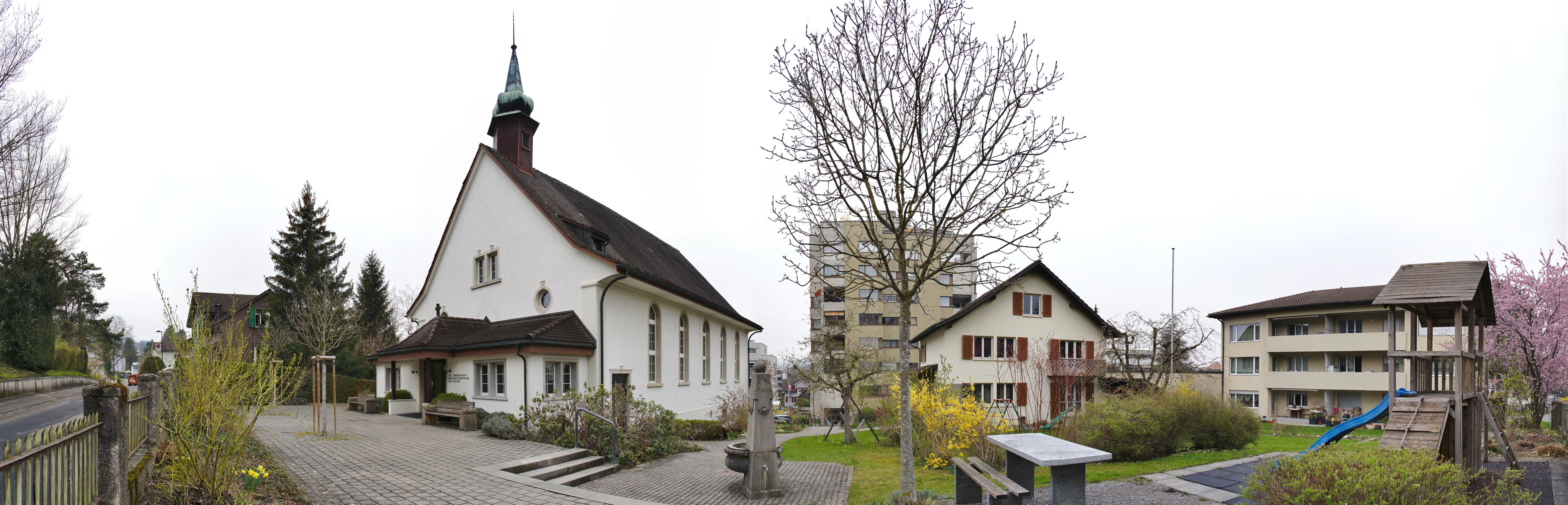 Kapelle Uzwil, Pfarrhaus, Mehrfamilienhaus (Bild: Sigmar Friedrich)