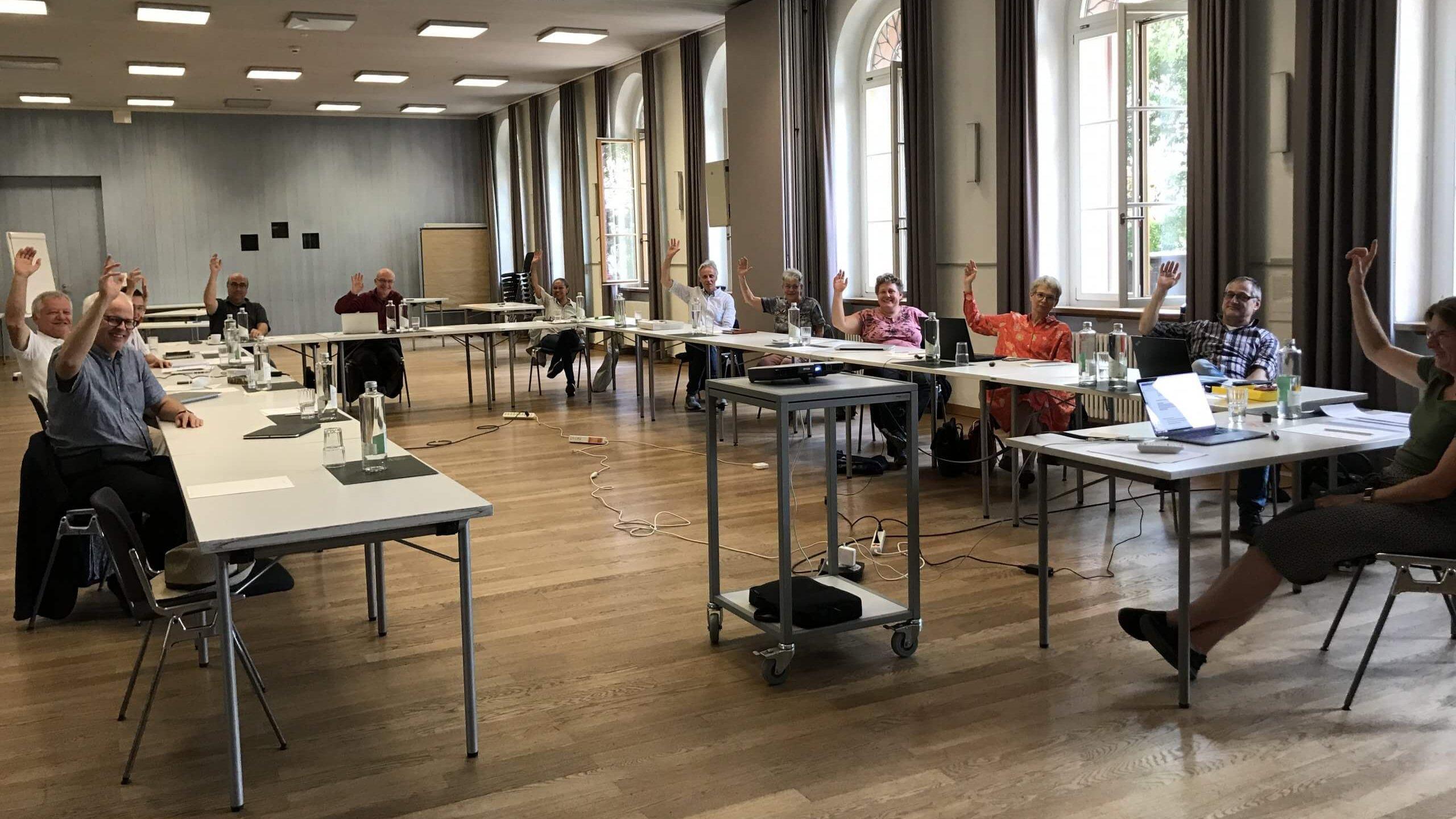 : Die Spurgruppe Zukunft EMK bei der Schlussabstimmung am 5.9.2020 in Basel