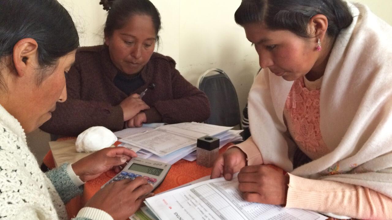 Stipendiatinnen in Bolivien
